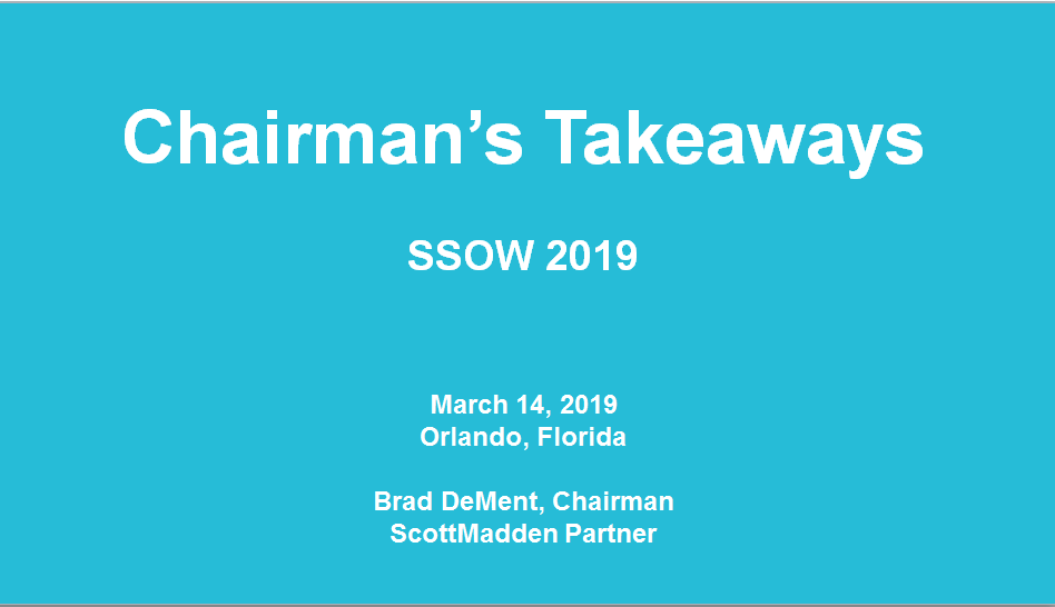 Key Takeaways of SSOW 2019