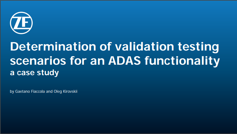 Presentation on how to Determine Validation Testing Scenarios for ADAS Functionality