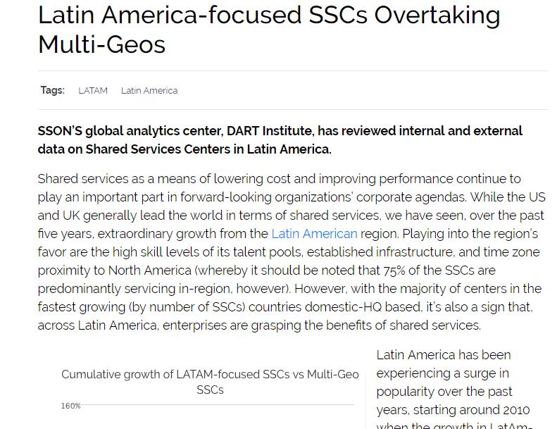 Latin America-focused SSCs Overtaking Multi-Geos