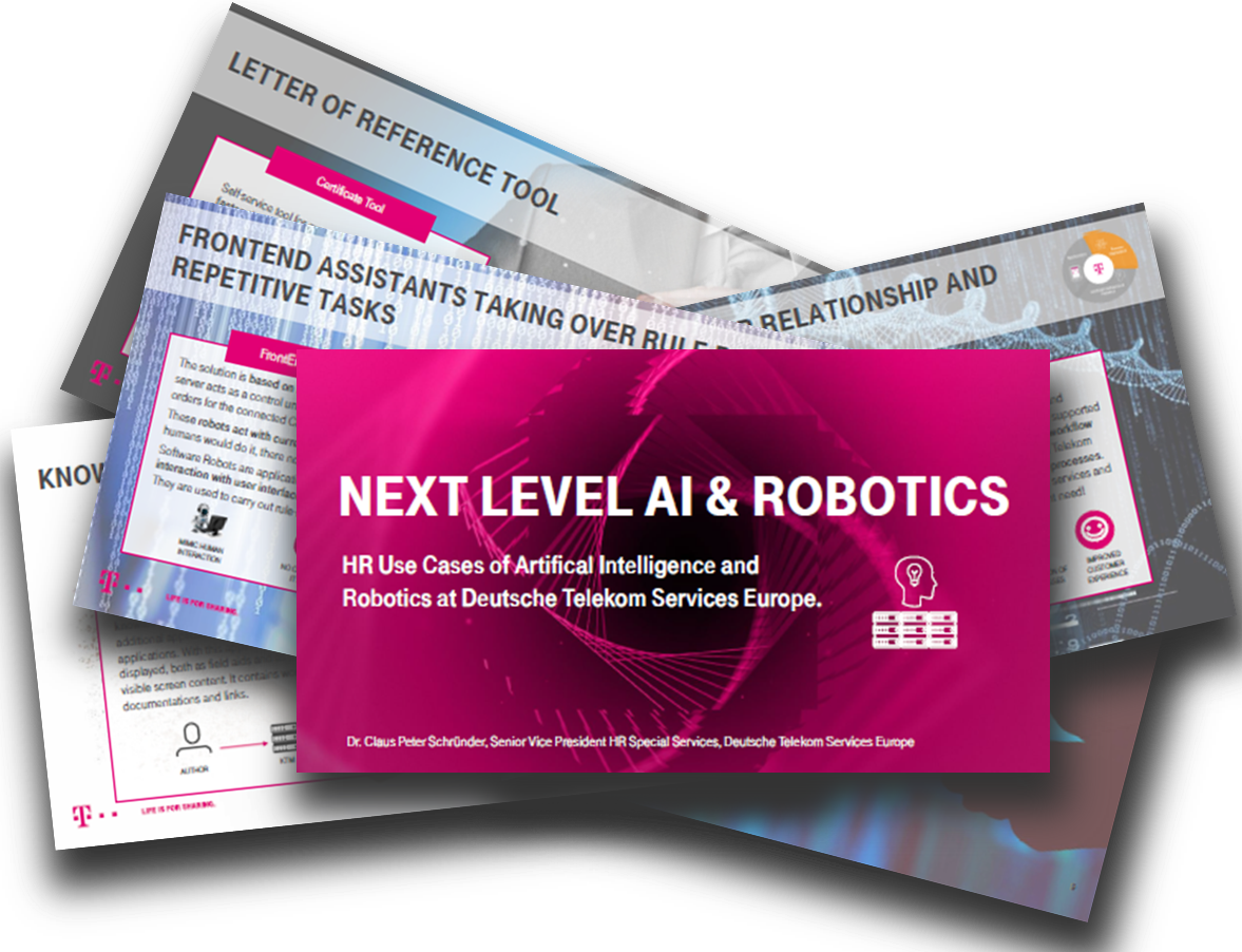 HR Use Cases of AI & Robotics at Deutsche Telekom Services Europe