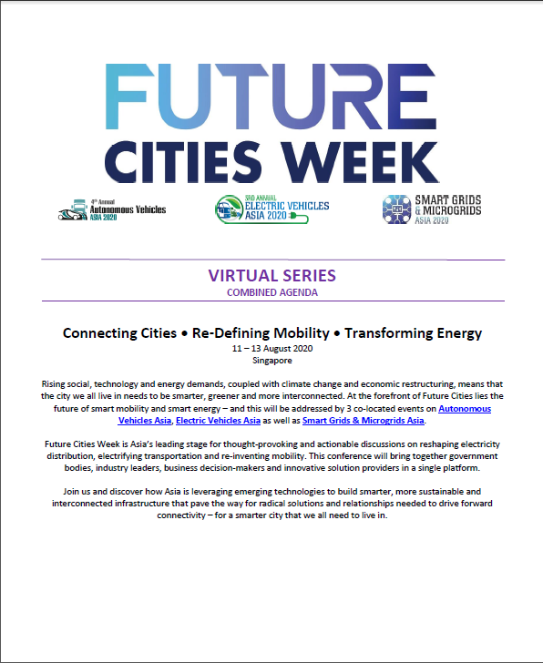 Download the Future Cities Week 2020 Agenda - Online Event