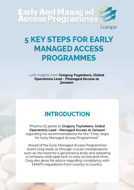 Five Key Steps for Early Managed Access Programmes