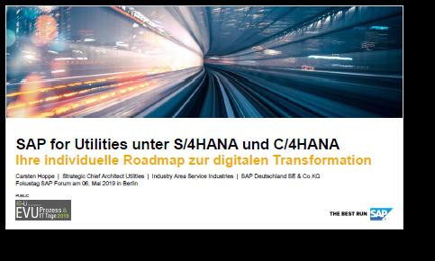 SAP Deutschland Präsentation: SAP for Utilities unter S/4HANA und C/4HANA