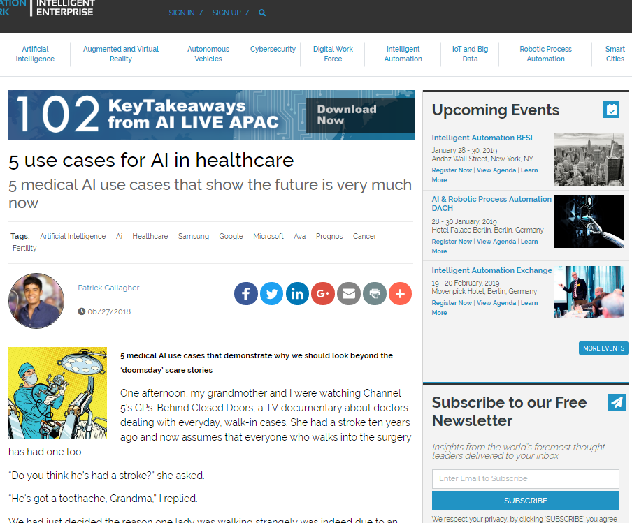 5 Use Cases for AI in Healthcare: 5 medical AI use cases that show the future is very much now