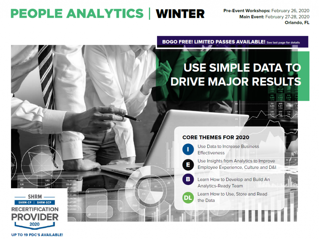 People Analytics Winter 2020 Preliminary Agenda