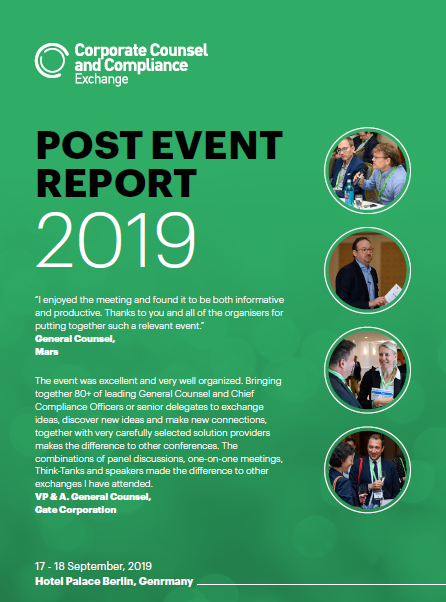 Corporate Counsel & Compliance Exchange Europe 2019 - Post-Event Report