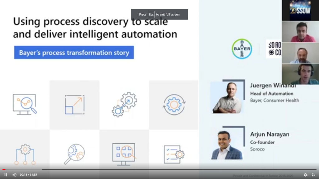 Case study Presentation: Using process discovery technology at scale to identify and deliver intelligent automation opportunities