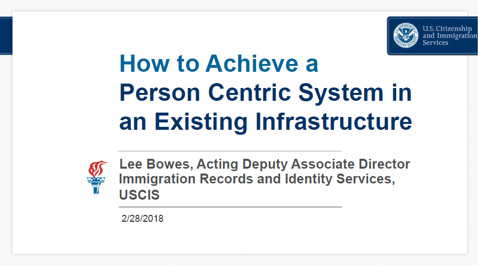 How to Achieve a Person Centric Identity Management System in an Already Existing Infrastructure