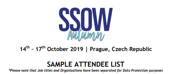 Attendee List 2019 | SSOW Europe 2019