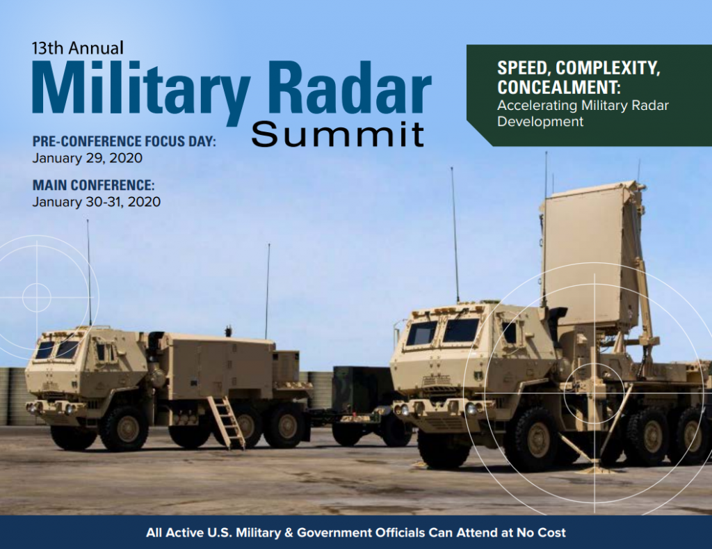 13th Annual Military Radar Summit Agenda
