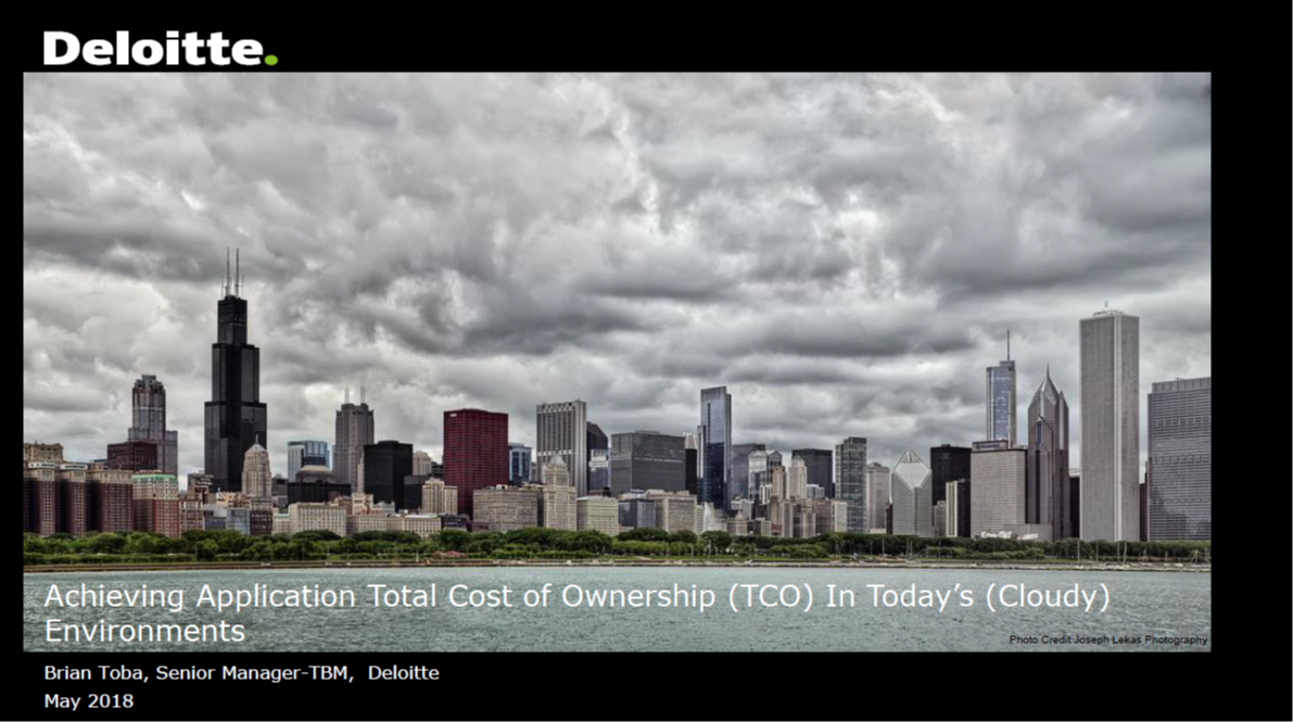 Achieving Application Total Cost of Ownership in Cloudy Environments