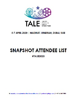 Snapshot Attendee List