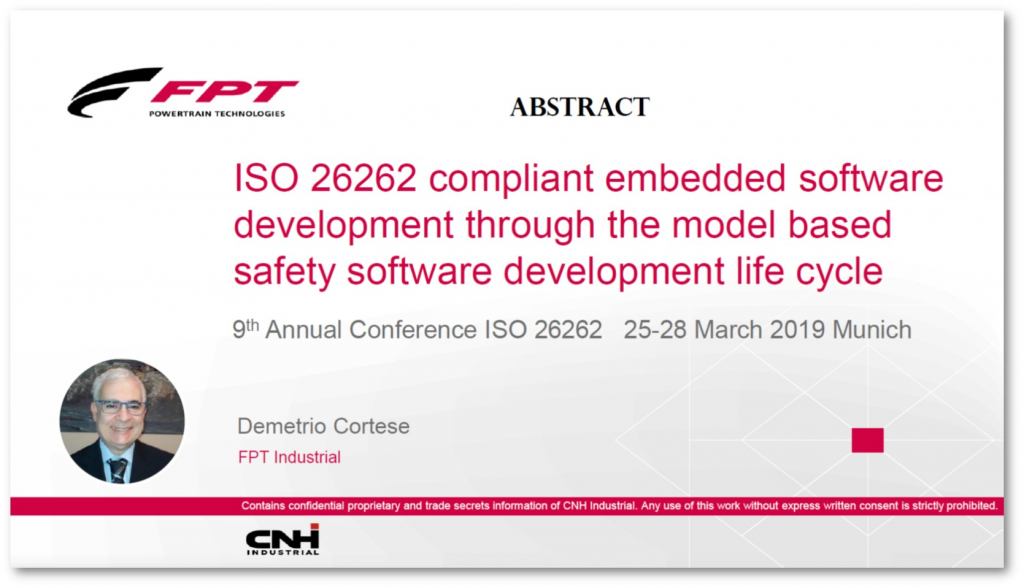 FPT Industrial Presentation on ISO 26262 Compliant Embedded Software Development