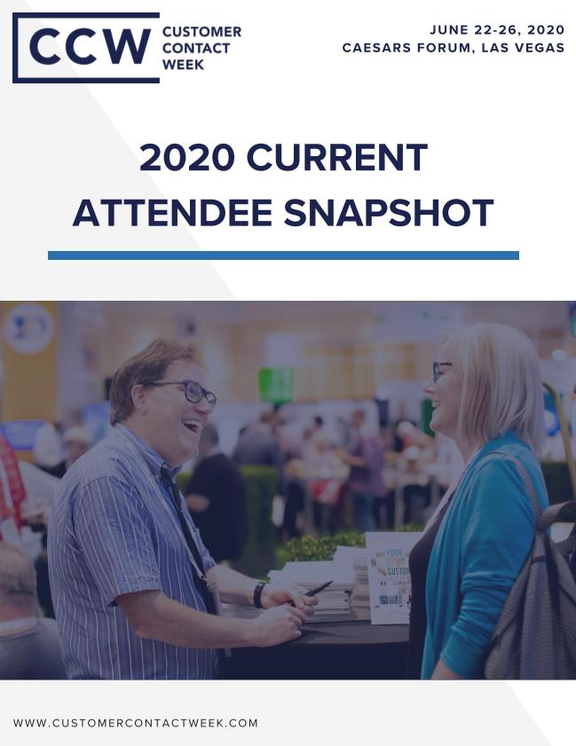 2020 Current Attendee Snapshot | CCW Vegas Sponsorship