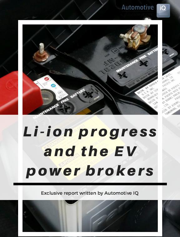 Report on Li-ion progress and the EV power brokers