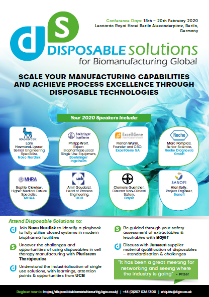 Download the Agenda | Disposable Solutions for Bio Manufacturing