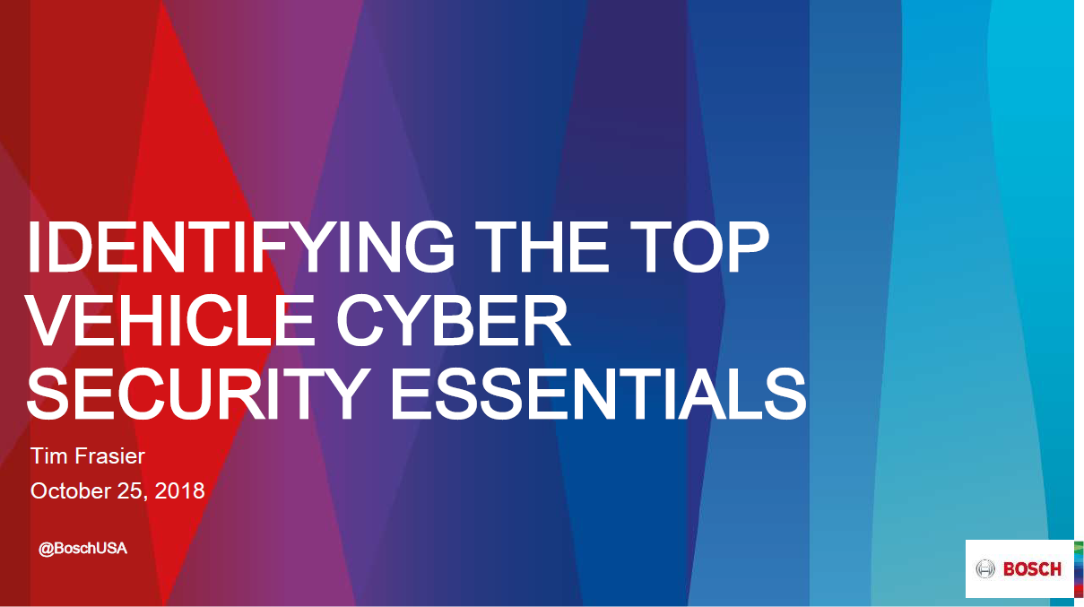 Identifying the Top Vehicle Cyber Security Essentials