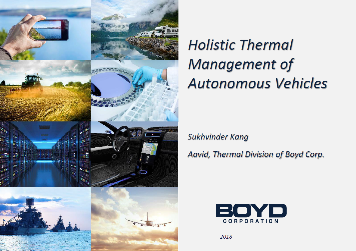 Holistic Thermal Management for Autonomous Vehicles