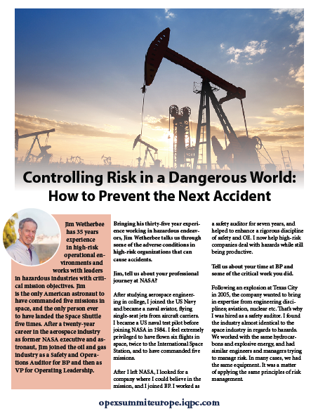 Controlling Risk in a Dangerous World: How to prevent the next accident