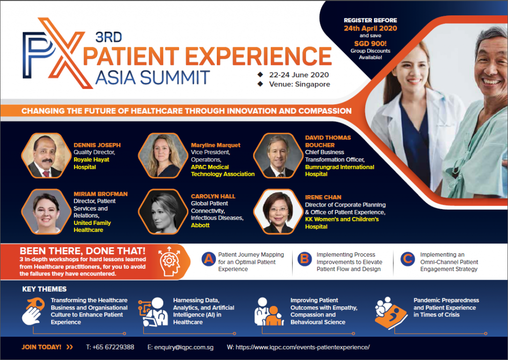 Patient Experience Asia Summit 2020 - Digital Agenda