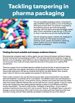 Tackling tampering in pharma packaging