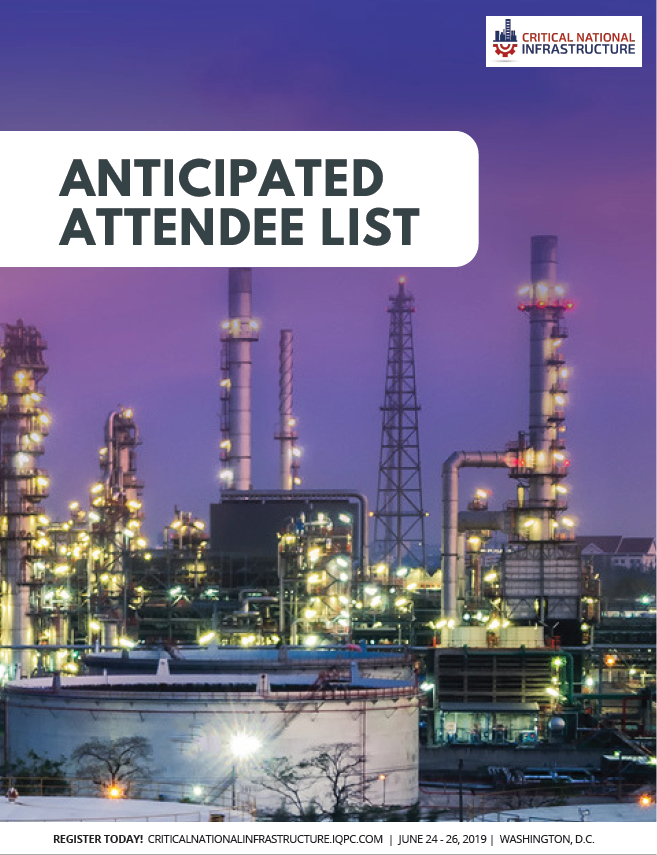 Critical National Infrastructure 2019: Anticipated Attendee List