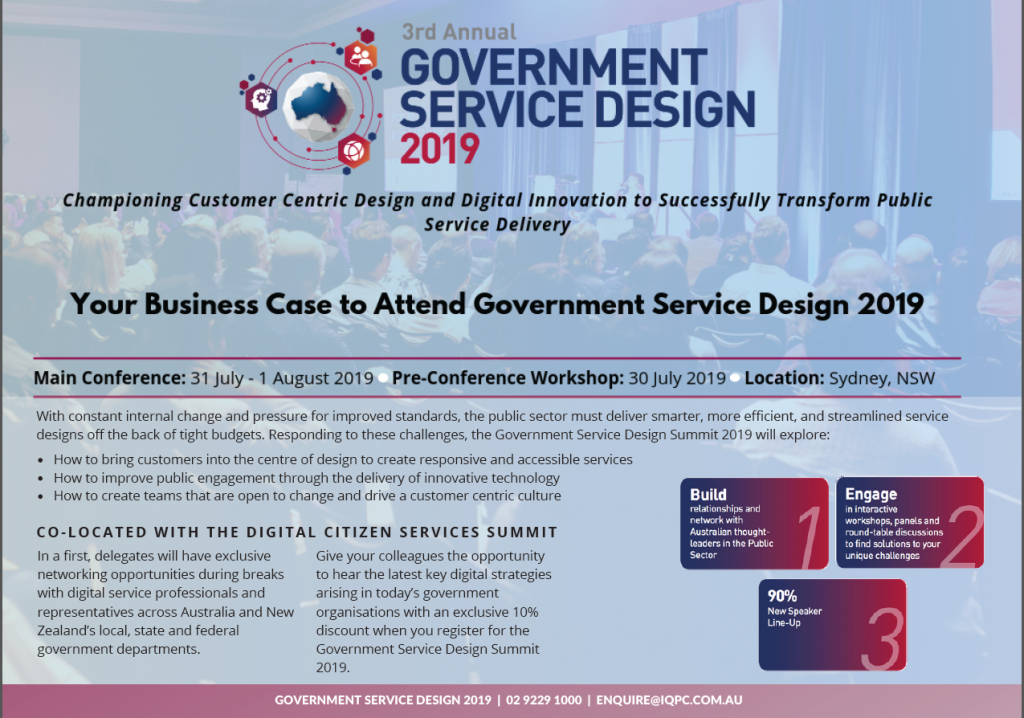 Government Service Design 2019 Business Case