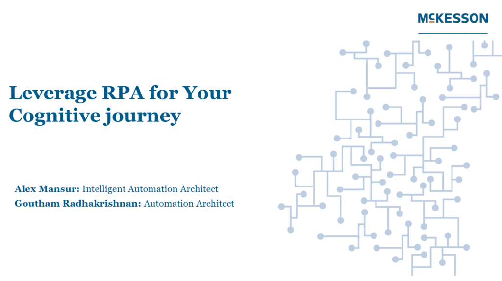 Leverage RPA for Your Cognitive journey