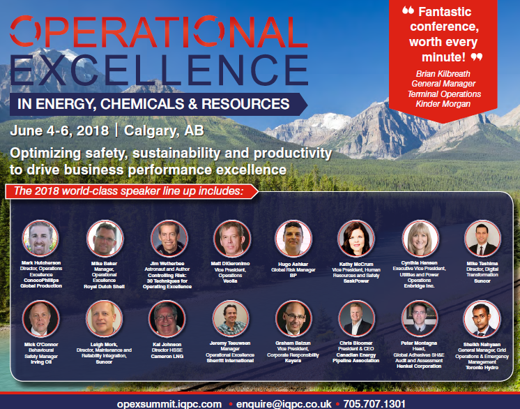 Download the Operational Excellence in Energy Chemicals & Resources 2018 Agenda