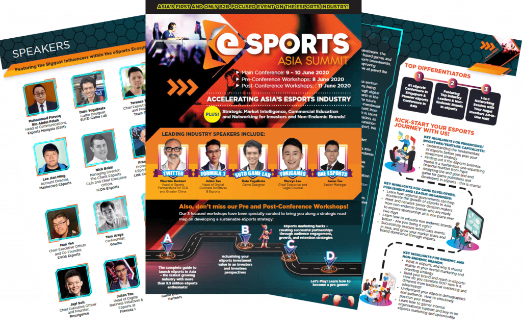 View The Full Event Outline for 3rd Esports Asia Summit 2020
