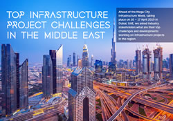 INFOGRAPHIC: Top Infrastructure Project Challenges in the Middle East