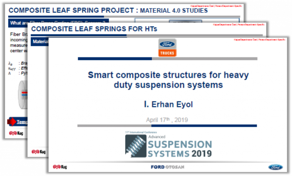 Ford Otosan Presentation: Smart Composite Structures for Heavy Duty Suspension Systems