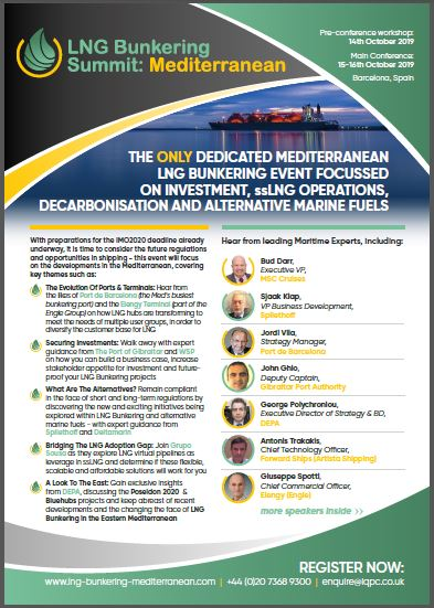 LNG Bunkering Summit: Mediterranean - 2019 Event Guide