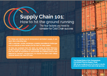Pharma Cold Chain 101: How to Hit the Ground Running
