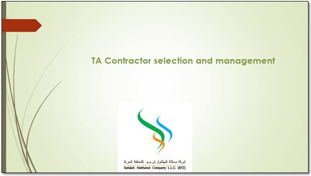 Complimentary presentation: Salalah Methanol's guide to selecting the right turnaround contractor
