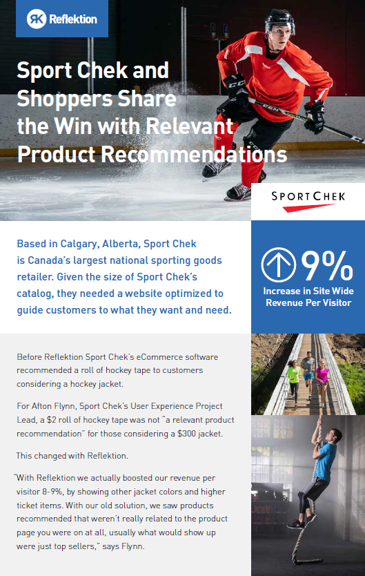 Sport Chek and Shoppers Share the Win with Relevant Product Recommendations