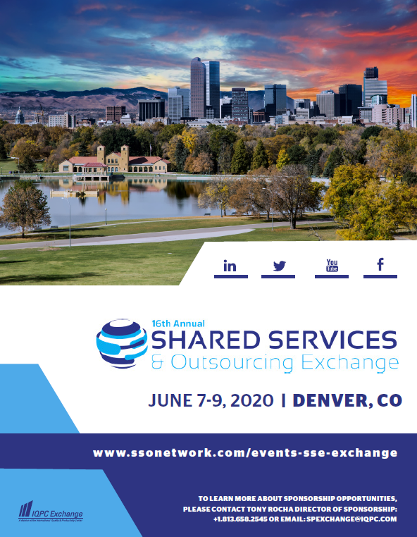 2020 Shared Services & Outsourcing Exchange Agenda