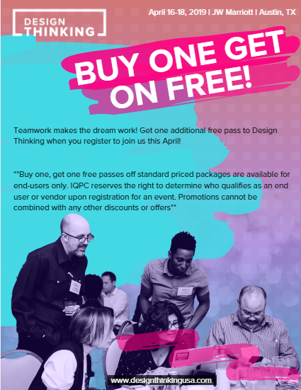 2019 Design Thinking Buy One Get One Free