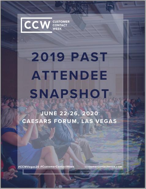 2019 Past Attendee Snapshot - CCW Vegas Sponsorship