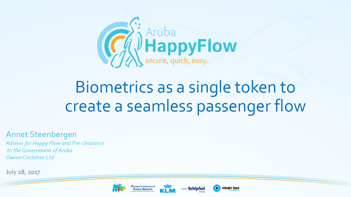 Biometrics as a Single Token to Create a Seamless Passenger Flow