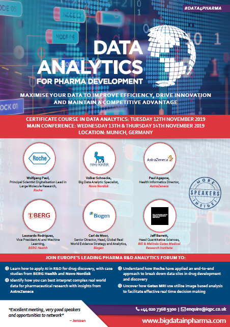 2019 Agenda | Data Analytics for Pharma Development