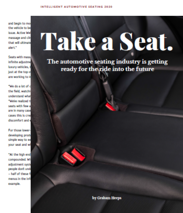 The automotive seating industry riding into the future