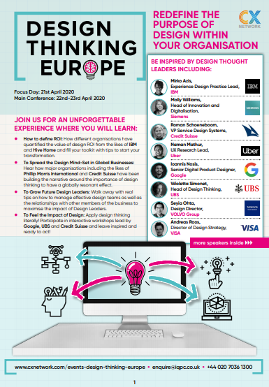 Design Thinking Europe 2020 Brochure
