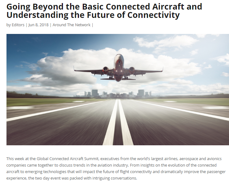 Going Beyond the Basic Connected Aircraft and Understanding the Future of Connectivity