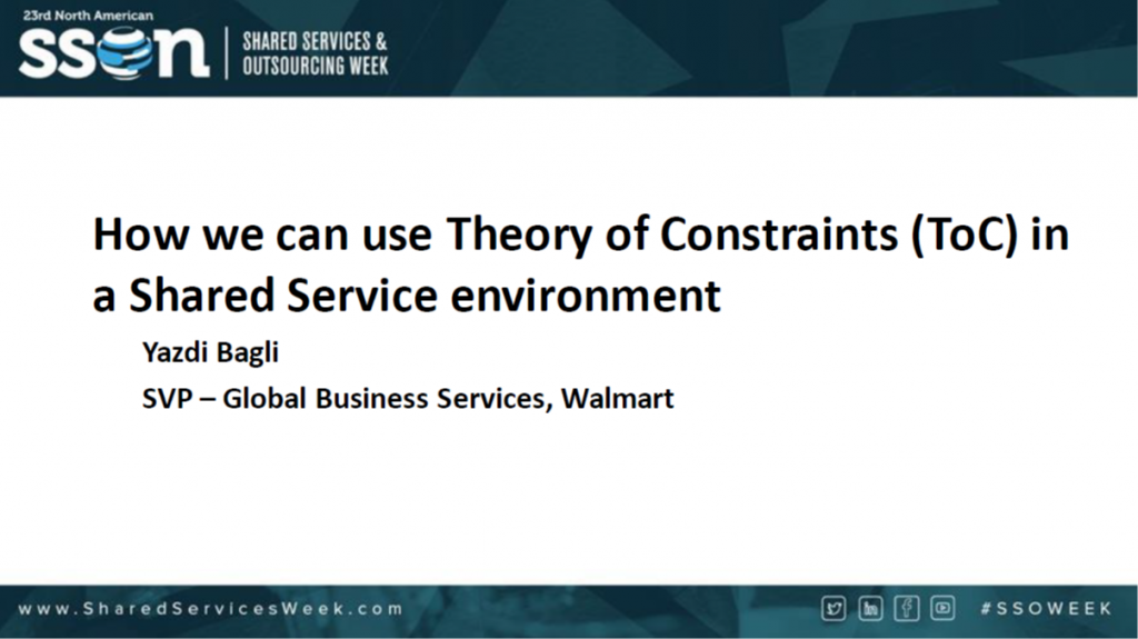 How We Can Use Theory of Constraints in a Shared Services Environment