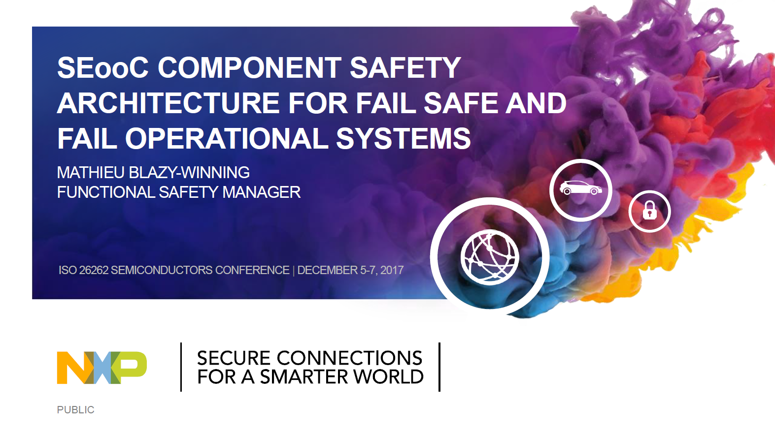 NXP presentation on SEooC component safety architectures for fail safe and fail operational systems