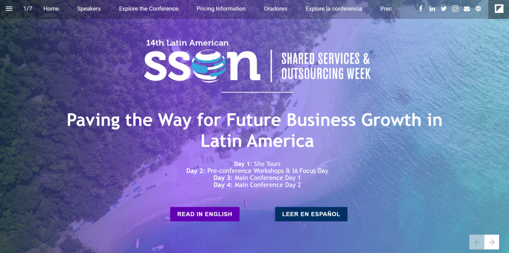 Interactivo Guía | Event Guide: Shared Services & Outsourcing Week Latin America - 2020
