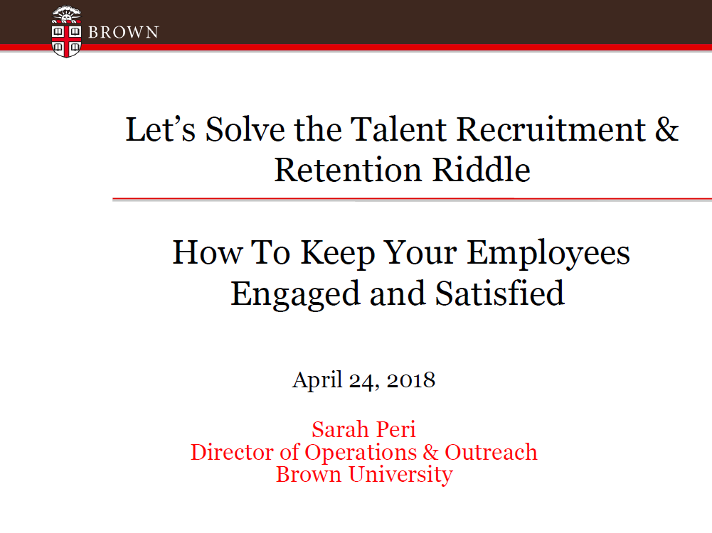 Let's Solve the Talent Recruitment & Retention Riddle