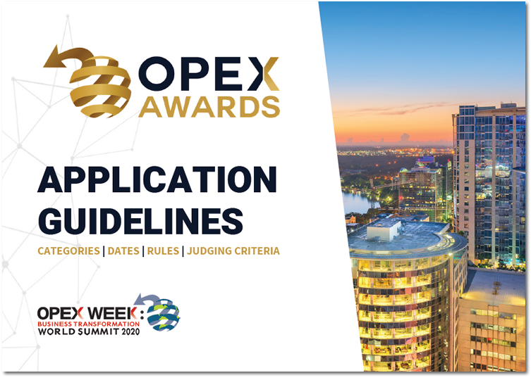 OPEX Awards 2020 Application Guidelines