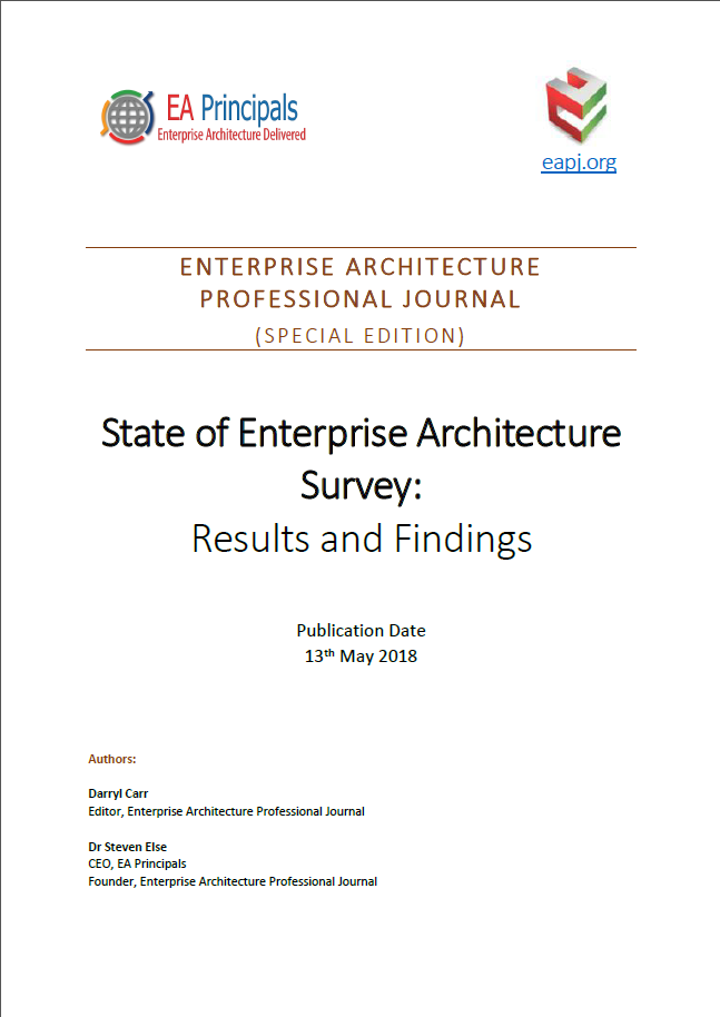 State of Enterprise Architecture Survey: Results and Findings